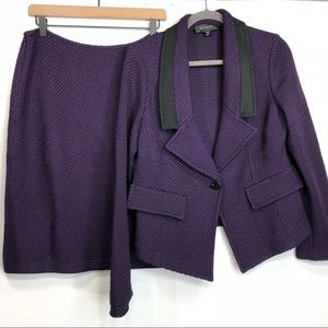 ST. JOHN Two Piece Skirt Suit Set Blazer Knit A18